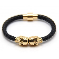 Bratara Unisex - Skull Bangle Gold